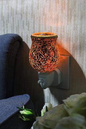 Burnt Orange Crackle Tulip Mosaic Wax Warmer (case of 12) Unit Price £5.95