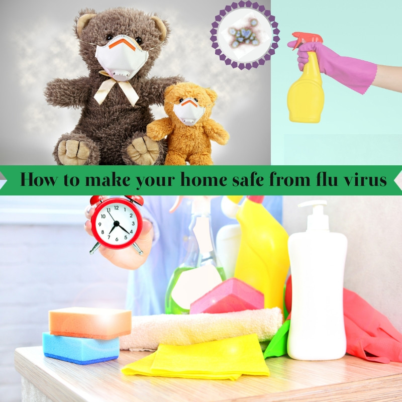 cleaning products , flu virus