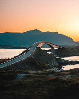 Atlantic Road Sunset