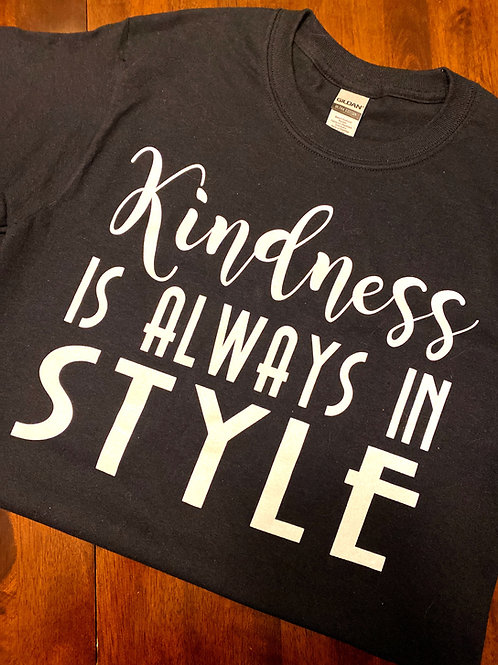 Kindness is Always in Style Tee - Black