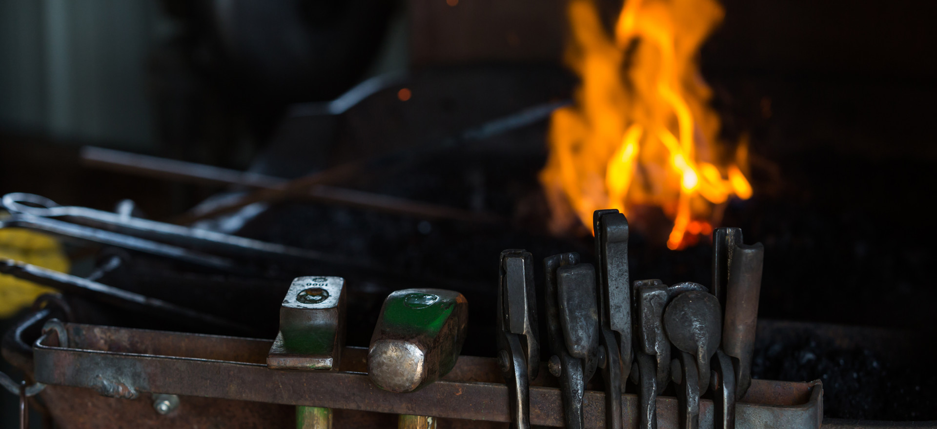 Iron Working Tools and fire