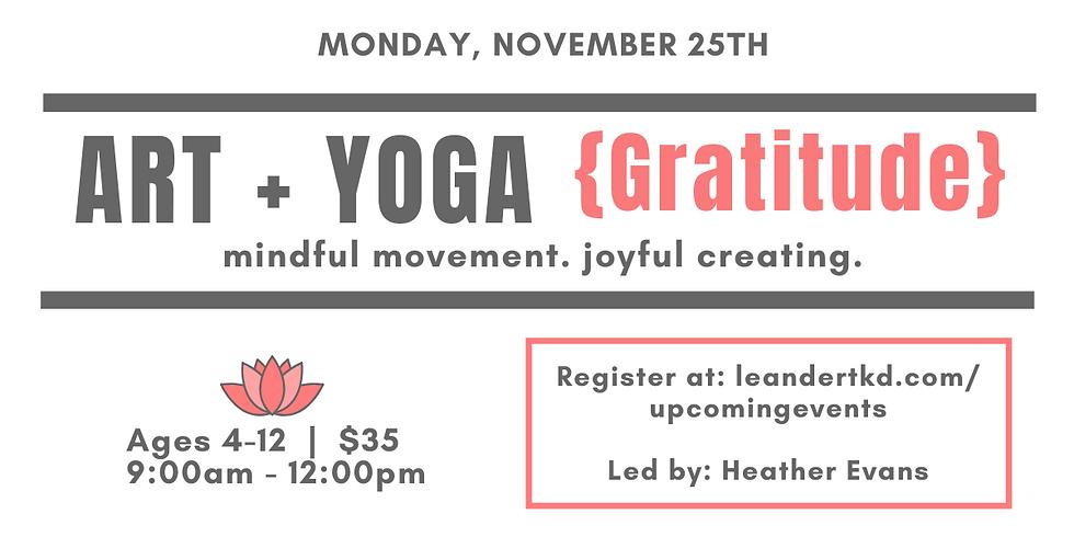 Art + Yoga {Gratitude}