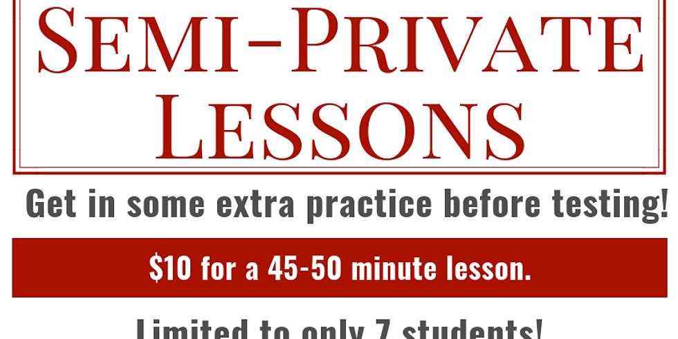 Semi-Private Lesson - November 29th - $10