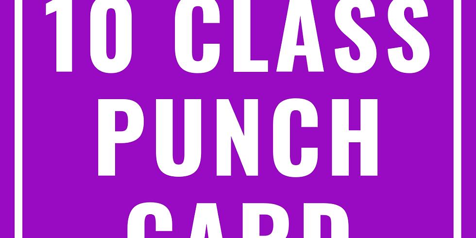 10 Class Punch Card