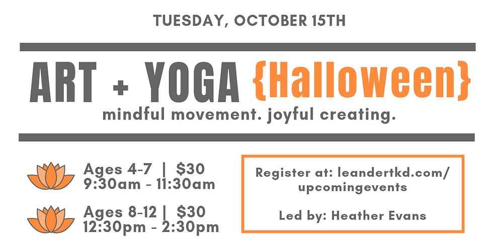 Art + Yoga {Halloween}