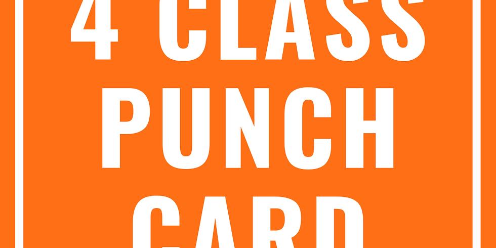 4 Class Punch Card