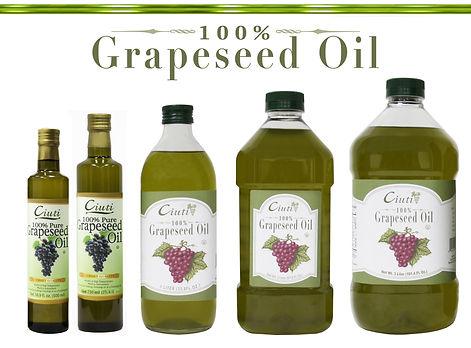 Ciuti 100% Pure Grapeseed Oil Bottles