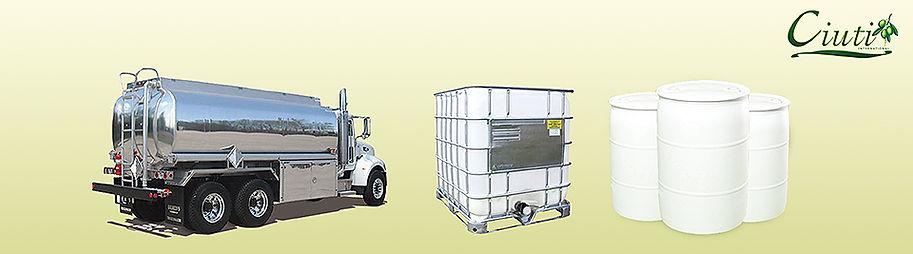 Ciuti sells in bulk - tankers, railcars, totes, and drums