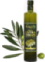 Ciuti Extra Virgin Olive Oil bottle with olive branch