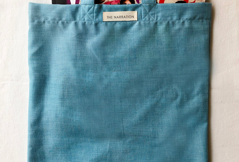 Sky Blue Chambray Tote Bag