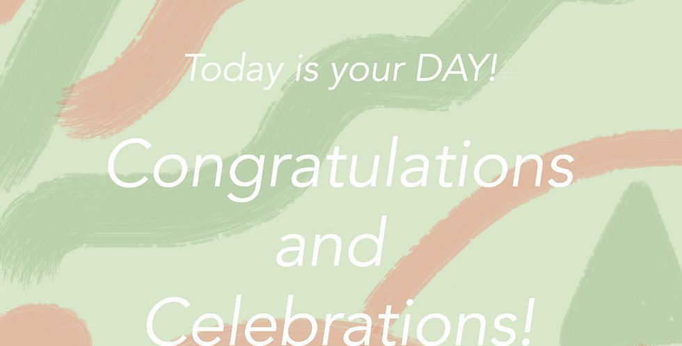 Congratulations and Celebrations E-gift Card