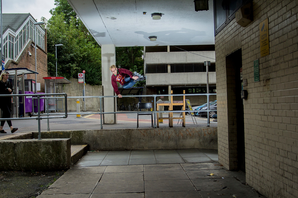 Gareth Morton AKA Stig - Mute Plant to Fakie | 40mm | ISO100 | f/4 | 1/250 | Flashes x1 | 7:25PM | Photo by Oliver Short