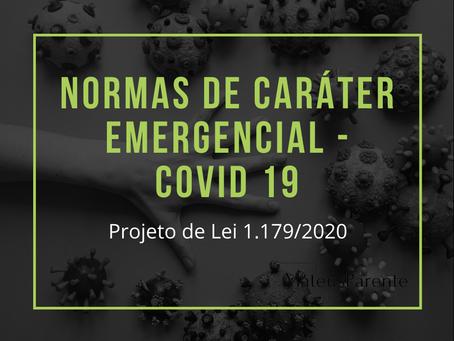 MEDIDAS EMERGENCIAIS DURANTE A PANDEMIA – COVID 19