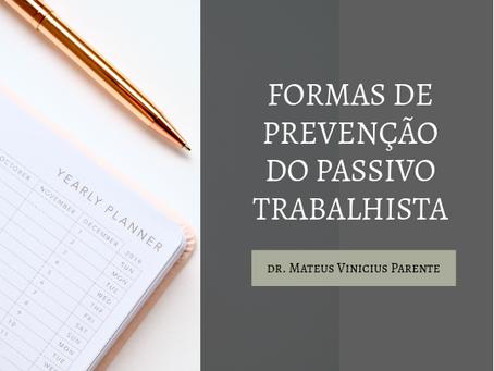 PREVENÇÃO DO PASSIVO TRABALHISTA EM 5 PASSOS