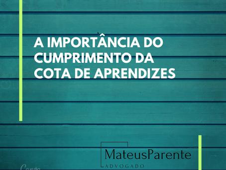 A IMPORTÂNCIA DO CUMPRIMENTO DA COTA DE APRENDIZES