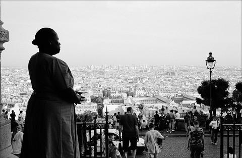 Paris, sur le parvis de la basilique du Sacré-Coeur de Montmartre