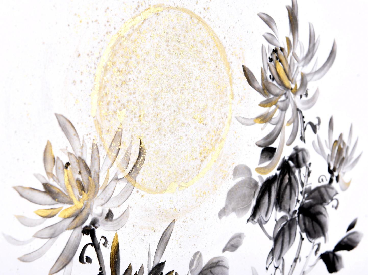 Хризантема, фрагмент. День.