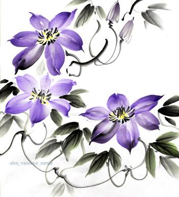 Клематис фиолетовый 27*24