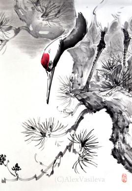 Японский журавль 33*48