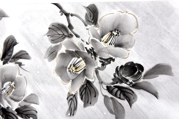 Камелия под снегом. Фрагмент работы2.jpg