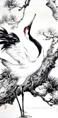 Японский журавль 33*65