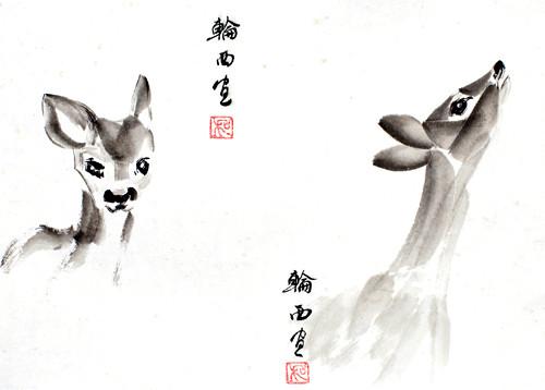 Детеныши пятинистого оленя.jpg