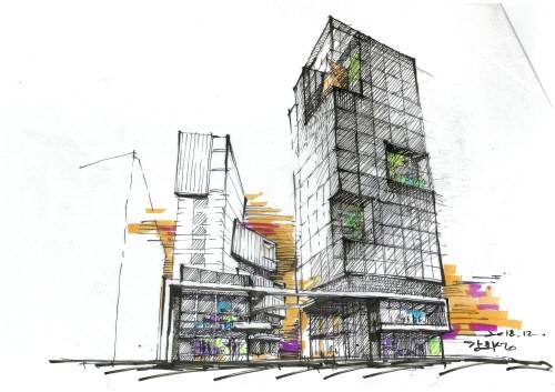 복합 상업문화빌딩 '신사역 멀버리힐스', 강남대로변 100년 랜드마크를 꿈꾸다