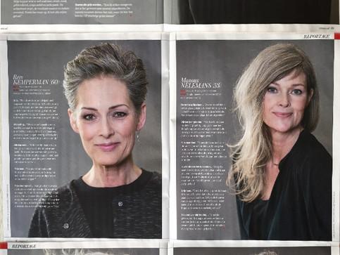 Vrouw Magazine: Wie durft? GRIJS! Met een kijkje achter de schermen