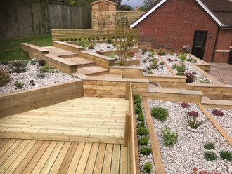 Landscaping and decking