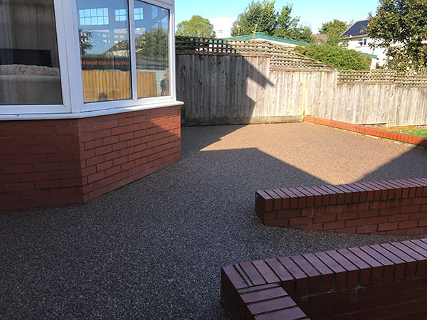 Resin patio and path