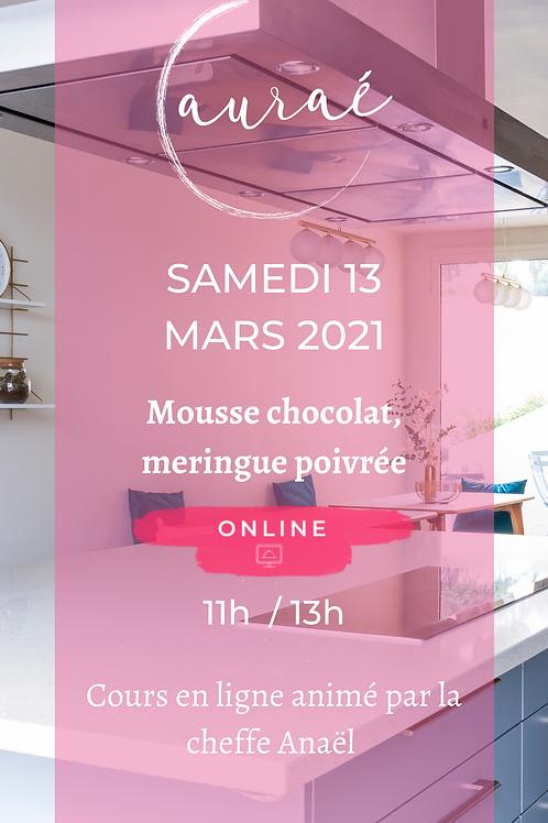 Mousse chocolat, meringue poivrée Sam 13