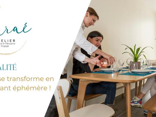 L'Atelier Auraé se transforme en restaurant éphémère