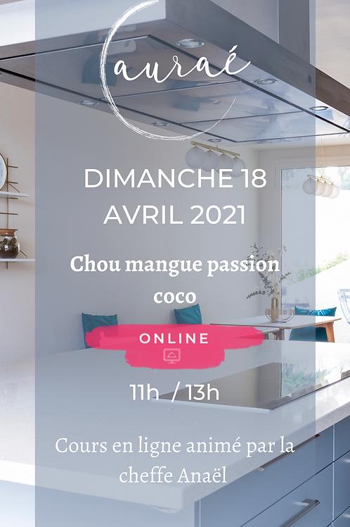Chou mangue passion coco - 18 avril