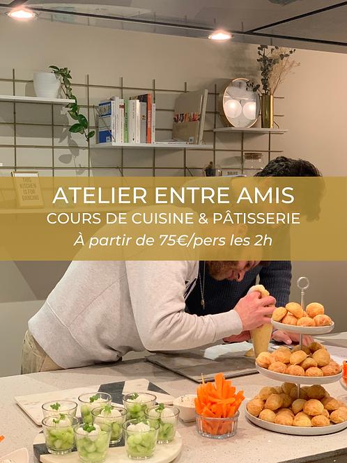 Atelier entre amis | Cuisine ou pâtisserie