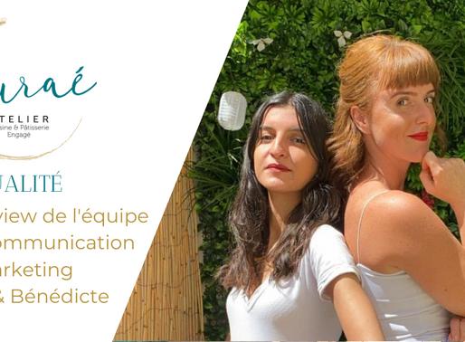 Rencontre avec l'équipe Marketing communication de l'Atelier Auraé