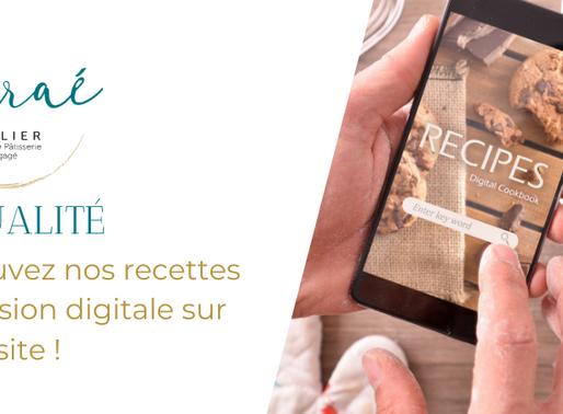Retrouvez nos recettes digitales sur notre site !
