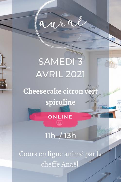 Cheesecake vegan sam 3 avril