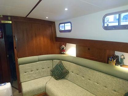 Boat cabin refit, Headlining