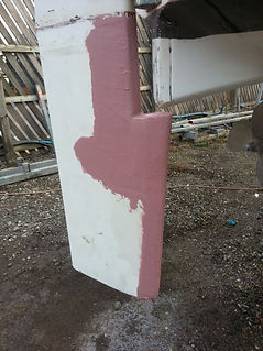 Fibreglass Repair, Filling, Rudder Repair