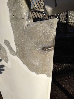 Rudder Repair, Fibreglass, GRP