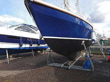 Antifoul, Hand Painting, Bow Thruster Installation