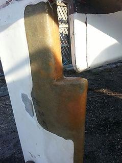 Fibreglass Rudder Repair