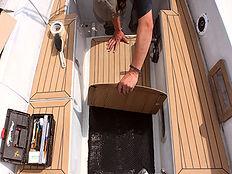 Teak Deck Installaton, Synthetic, Deck, Dek-Kin