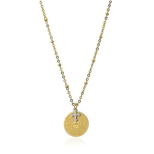 CO103 Collar de acero quirúrgico bañado en oro
