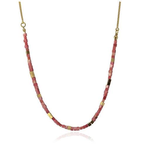 CO97 Collar de acero quirúrgico bañado en oro