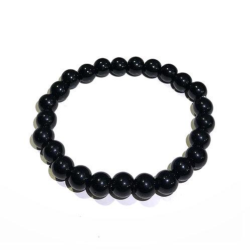 INVICTUS - PULSERA #33 Piedra negro brillo.