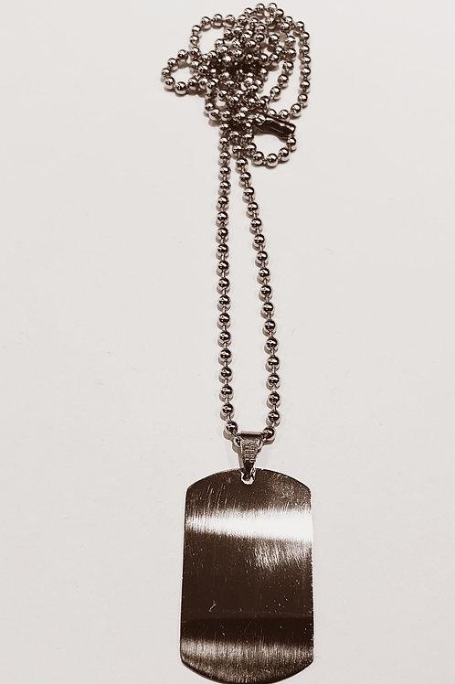 CO81 Placa de acero con cadena.