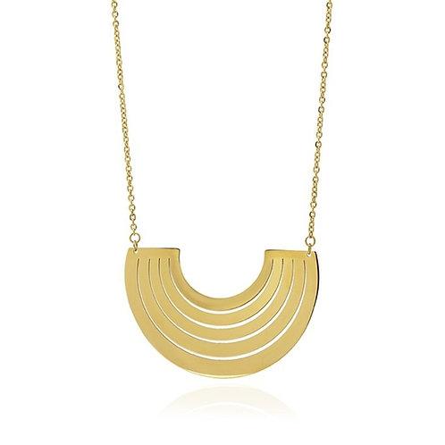 CO89 Collar de acero con baño de oro o acero