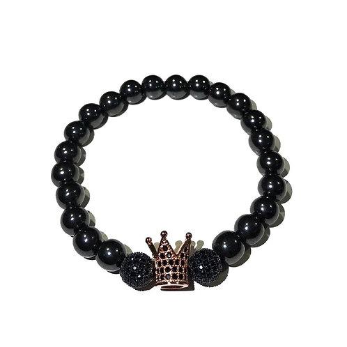 INVICUS - SHADO BLACK #36 corona rosa y hematite