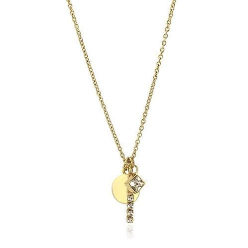 CO94 Collar de acero quirúrgico chapado en oro